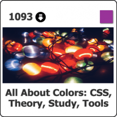 1093 All about Colors   CSS, Theory, Study, Tutorials & Tools